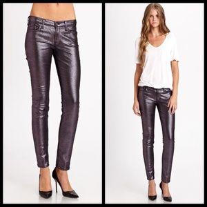 7 For All Mankind Metallic Purple skinny jeans-28